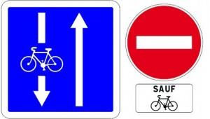 Un contre-sens cycliste rue Vaubecour! Enfin!