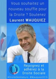 Campagne d'adhésion 2015 de la Droite Sociale du Rhône.